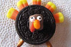 Oreo Turkey cute food kids cookie thanksgiving easy turkey oreo candy corn
