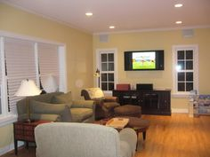 Sherwin Williams Convivial Yellow - back living room color