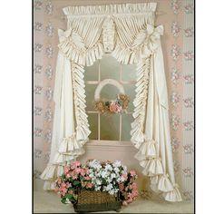 Ruffled Country Curtains | 17e Single Ruffle Curtain Single Ruffle Curtain  In Country Charm Link .
