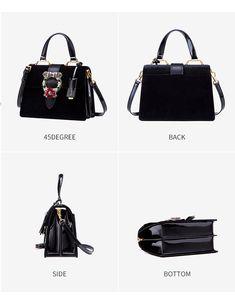 9fef9643296d Lady Shop · Shoulder Bags · LAFESTIN Women Handbag Shoulder Bag Designer  Lock Diamonds Famous Velvet Luxury Totes Multifunction Bag 2018 New