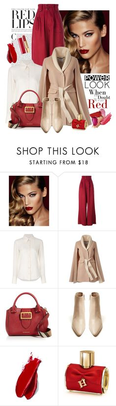 """power look"" by bb-tka ❤ liked on Polyvore featuring Charlotte Tilbury, Joseph, Chloé, Burberry, The Row, Balmain, Carolina Herrera, Chanel, girlpower and powerlook"