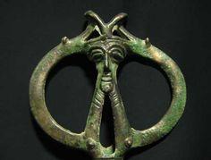 Luristan Bronze Standard Finial -  Origin: Central Asia Circa: 900 BC to 600 BC Dimensions: 9.5 (24.1cm) high Collection: Near-Eastern Medium: Bronze