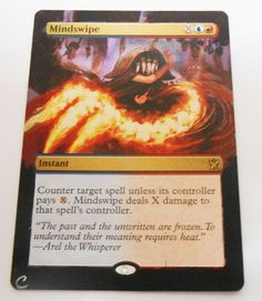 MTG Altered Painted Mindswipe Khans Of Tarkir #WizardsoftheCoast