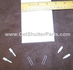 "Plantation Shutter Louver Kit- 3 1/2"" Wide X 24"" Long"