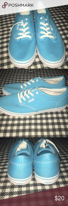 Light blue vans They are new, don't have tags, never wore them, got them for an outfit but they weren't the right color blue. Feel free to ask any questions. Vans Shoes Sneakers