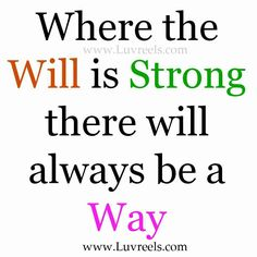 Always be a way...
