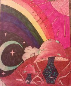 Collection: Mushrooms Artist: Kristina Simone Media: Colored Pencils