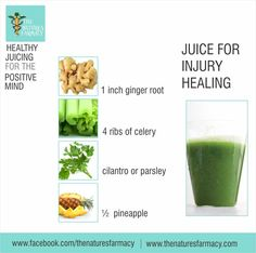 Juice for injury healing