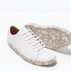 ZARA - SHOES & BAGS - SNEAKERS WITH PRINTED SOLE