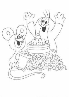 16 The Mole printable coloring pages for kids. Find on coloring-book thousands of coloring pages. Printable Coloring Pages, Coloring Pages For Kids, Coloring Books, La Petite Taupe, The Mole, Diy And Crafts, Crafts For Kids, Cake Templates, Minnie Mouse Cake