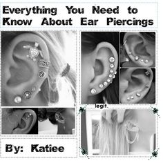 Information about your ear lobe, cartilage, and tragus piercings♔ by whatever-happened-to-barney on Polyvore featuring polyvore, fashion, style, feather earrings and earrings Lobe Piercing, Tragus Piercings, Body Piercings, Piercing Ideas, Cute Piercings, Peircings, Piercing Tattoo, Getting Your Ears Pierced, Body Jewelry