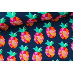 Hamburger Liebe  Dark Blue Pineapplelada jersey 50cm x 140cm