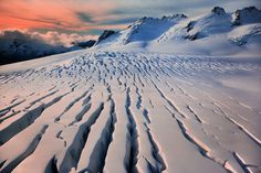 Fractures in the southern alps of New Zealand by Kah Kit Yoong