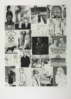"Richard Hamilton, ""How a great daily organ is turned out"", 1990. Etching, engraving, aquatint, others on paper. Image in Hamilton's series illustrating Joyce's ""Ulysses""."