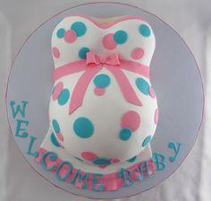 Baby Shower Belly Cake