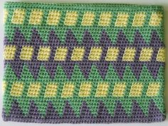 pattern for Tapestry Crochet Wallet as a free download