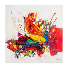 Quadro Pintura Abstrata Tinta 2 120x120 Fullway