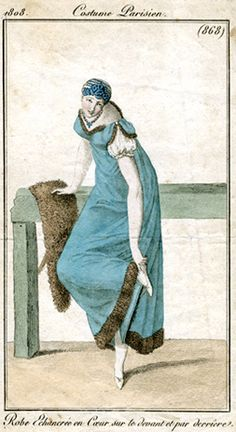Electric blue is wonderful, this outfit is normally depicted in white. Costume parisien 1808