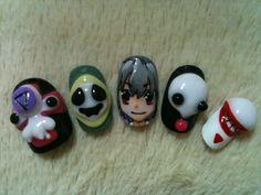 Evangelion nail art