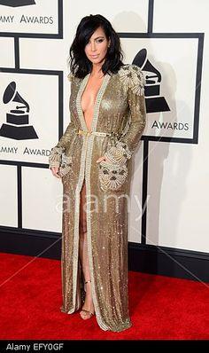Kim Kardashian arrives for the 57th annual Grammy Awards held at the Staples Center in Los Angeles, California, USA, 08 February 2015. © epa european pressphoto agency b.v. / Alamy