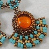 Peyote Stitch: Amber Rays #Beading #Earrings #Tutorial