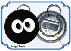Flaschenöffner mit Schlüsselring, Augen von Jasuki auf DaWanda.com