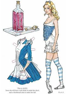 Alice in wonderland printable paper dolls
