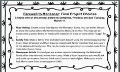 Printables Farewell To Manzanar Worksheets farewell to manzanar worksheets abitlikethis a final project list of ideas for the novel