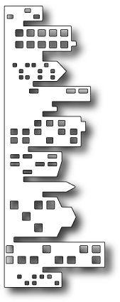Memory Box Dies - 123Stitch.com ~ Cityscape Nightline Border Die, $12.34