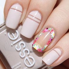 Beautiful nail art designs that are just too cute to resist. It's time to try out something new with your nail art. Beautiful Nail Art, Gorgeous Nails, Pretty Nails, White Nail Art, White Nails, Nude Nails, Negative Space Nails, Flower Nails, Creative Nails