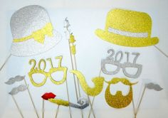 Glasses 2017 Photo Booth Props New Years by weddingphotobooth