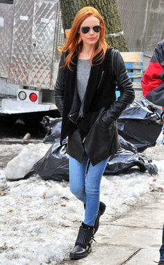 New Redhead Kate Bosworth Spotted on Movie Set