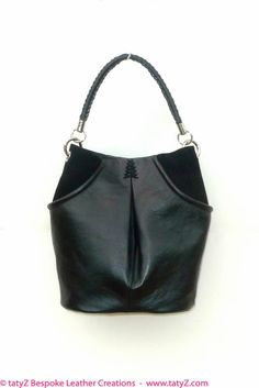TATYZ black leather and suede tote bag www.tatyZ.com/shop-online