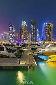 Dubai color of Marina