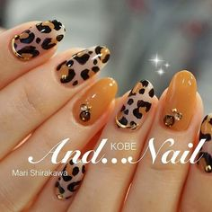 Short Nail Designs, Fall Nail Designs, Cute Nails, My Nails, Romantic Nails, Colorful Nail Art, Leopard Nails, Latest Nail Art, Manicure E Pedicure