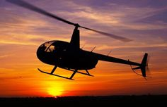 #Helicopter - #Hélicoptère - #Sunset