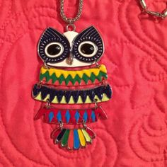 "Owl necklace Super fun and cute owl necklace. Chain length 29.5"" Jewelry Necklaces"