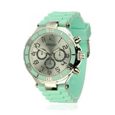 Available at www.livly.nl ---> Soft #Watch Mint - Silver Case #horloge #ernest #musthave #webshop