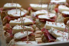 Mini tartines jambon mozzarella