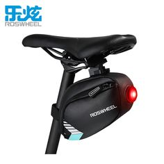 Roswheel Bicycle Saddle Bag With Tail Lamp Light Pocket Waterproof MTB Bike Rear Bags Cycling Rear Seat Tail Bag Accessories // FREE Worldwide Shipping! //     #hashtag4