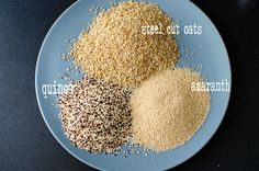 Oats, quinoa, aramanth porridge