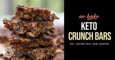 Keto-Friendly Chocolatey Crunch Bars (No Refined Sugar, No Grains, No Dairy, No Eggs)