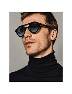 f0f62cb608 Clément Chabernaud dons Moncler sunglasses for Holt Renfrew. Sunglasses  2017, Round Sunglasses, Holt