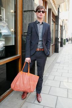 Goyard on Men/ I just cant stand to wear orange.heheh