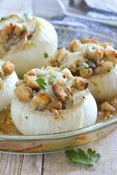 Stuffed Vidalia Onions...easy, so tasty and can be prepped ahead of time!!