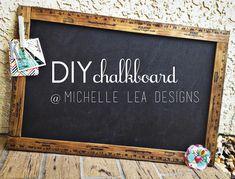 LOVE this DIY chalkboad with yardsticks. #chalkboard