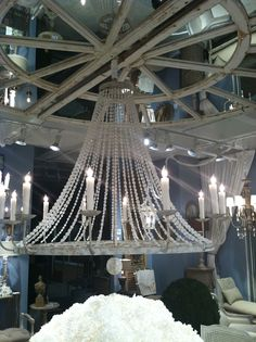 White beaded naples chandelier by aidan gray from our store on beaded naples chandelier via aidan gray in love with this chandelier mozeypictures Image collections