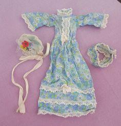 Vintage Sindy Doll Bridesmaid Dress, Headband and Bouquet RARE 1973 Ref S209 TLC   18+1.1