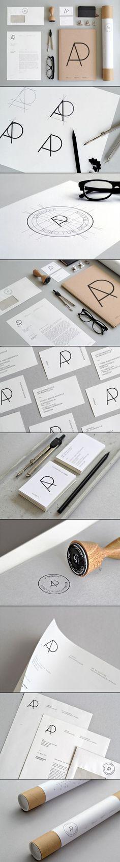 A Panzer, Büro für Architektur Brand Identity via Design made in Germany.