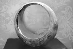 STUNNING CERAMIC SILVER SHIMMERING TEXTURED SCULPTURE ORNAMENT HOTEL STYLE in Home, Furniture & DIY, Home Decor, Decorative Ornaments & Figures | eBay